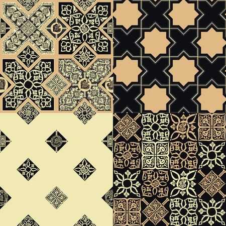 4 Persian tiles