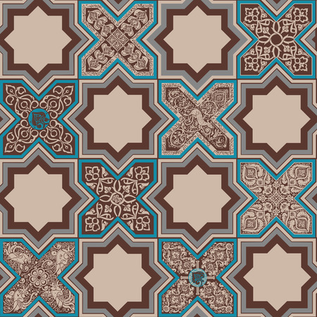 Seamless pattern with persian ornament.