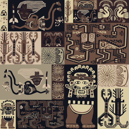 Seamless pattern with bedspread. Ilustração