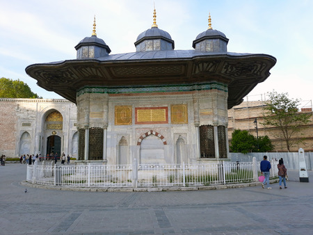 The fountain, built under the rule of Sultan Ahmed III in 1728. Istanbul, May 2018.
