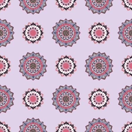 Oriental patterns in Indian style. Seamless pattern.