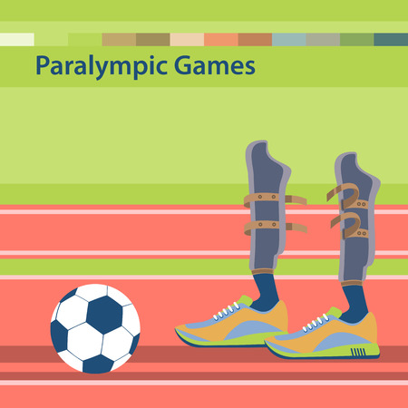 competitions: Summer Paralympic Games. International sports competitions for people with disabilities. Sporting the lower limbs. Illustration