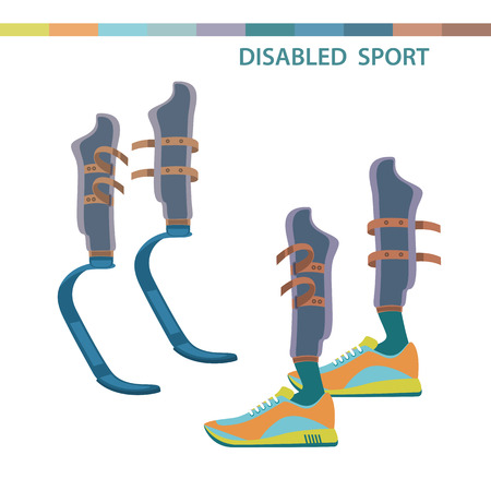 limbs: Disabled sports invalid athletes competition symbols. Sporting the lower limbs.