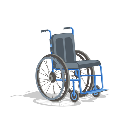 Wheelchair isolated on white background.