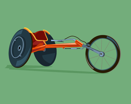 Racing wheelchair. The competition for people with disabilities.