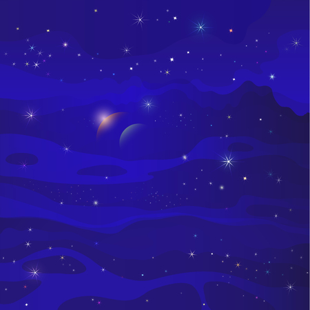 astral: fantastic space star galaxy blue background