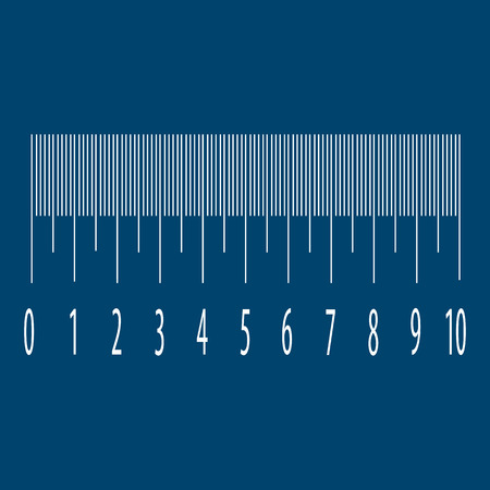 dispensing: Measuring scale with numbers Illustration
