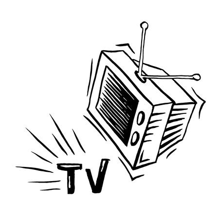 TV  television  cartoon   illustration