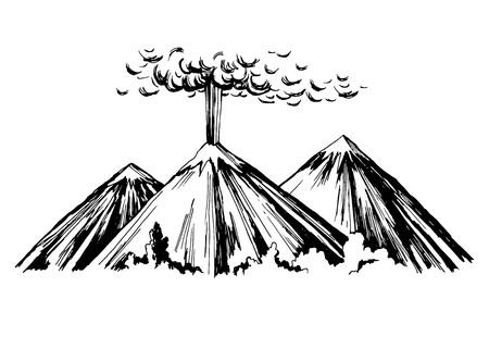 Eruption three mountains