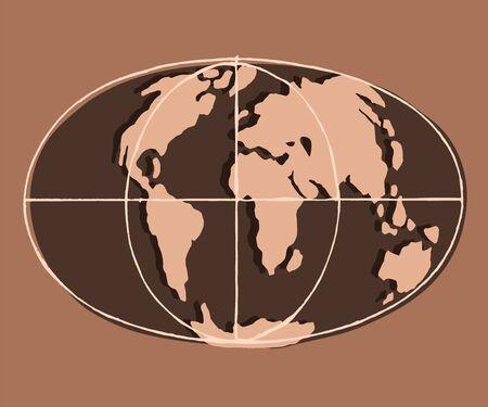Flat earth. Brown clay.