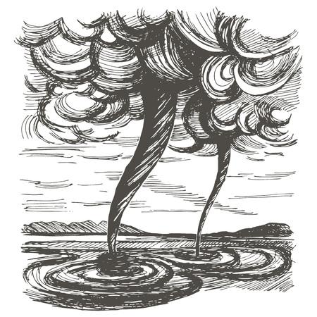 tornado wind: Tornado wind and mountains