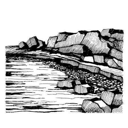 Cliffs Beach. Rocks on the coast.