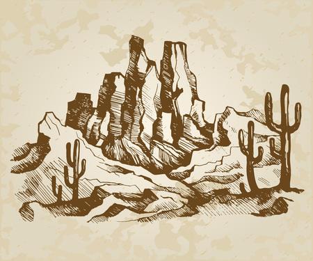 Typical landscape of Arizona
