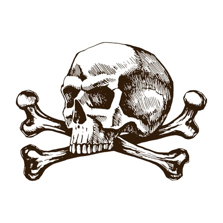 Skull and crossbones icon.