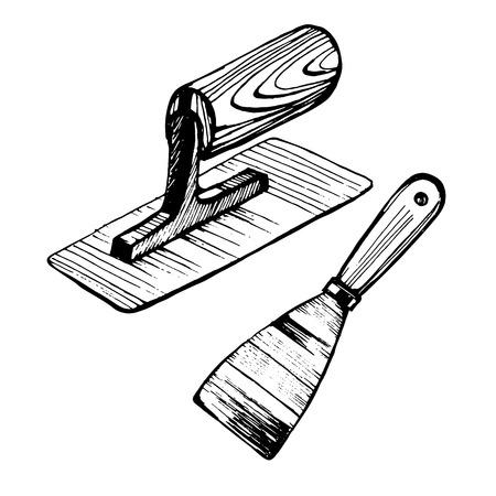 Troffel voor Venetiaans pleisterwerk Vector Illustratie