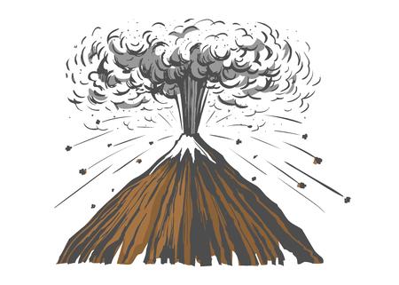 Eruption volcano colored