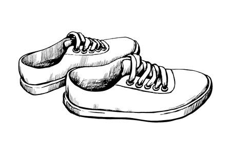 sneakers vector sketch