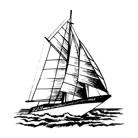 358 Sailing A Racing Yacht Stock Illustrations Cliparts And Royalty