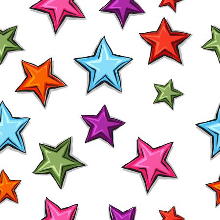 Big cartoon pattern stars Çizim