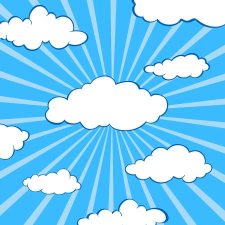 clouds stylized flat set Çizim