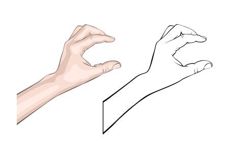 Human brush gesture