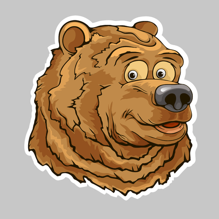 Bear head sticker Çizim