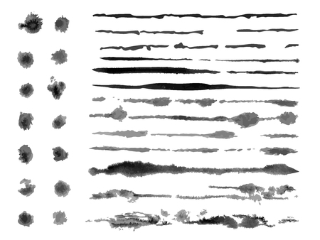 Grunge brush strokes ink
