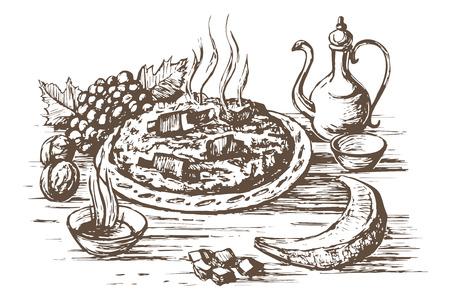Pilaf Oriental cuisine
