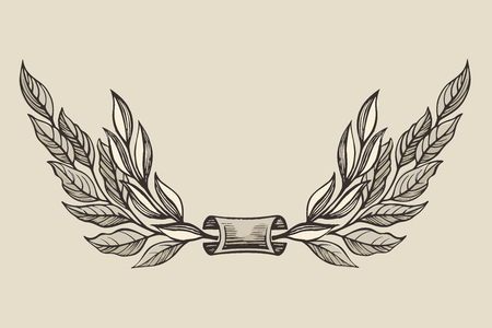 Hand drawn Laurel wreath 일러스트