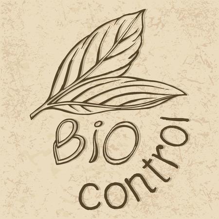 Bio control symbol sketch Çizim