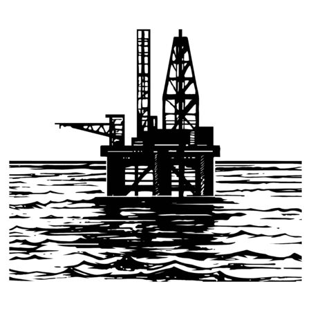oil platforms sketch