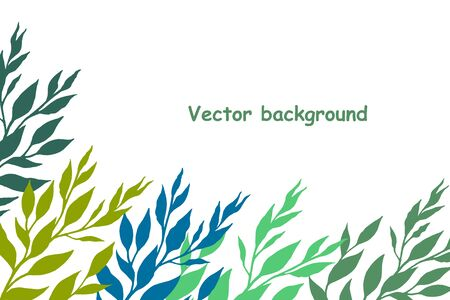 Simple vectorial background from color leaves