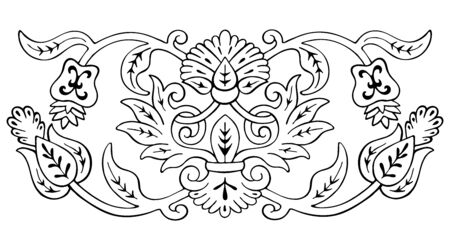 Floral pattern sketch element
