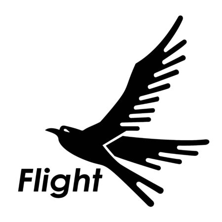 Bird silhouette flying symbols logo and icons.