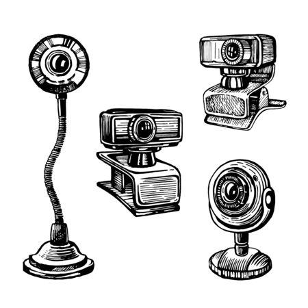 Vector sketch of a webcam
