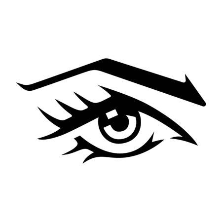 Womans eye vector logo design.