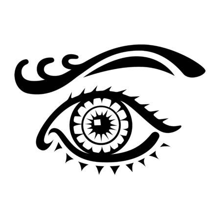 Female eye logo on white background