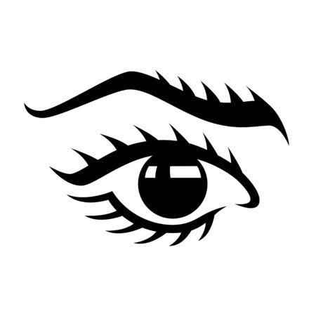 Womans eye logo design vector