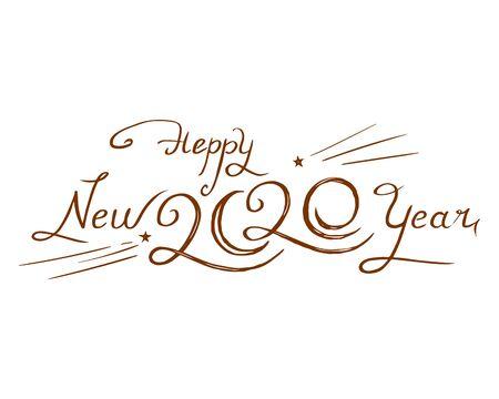 2020 hand-drawn design vector