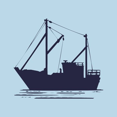 Fishing boat used as a vehicle for finding fish in the sea. Archivio Fotografico - 149826530