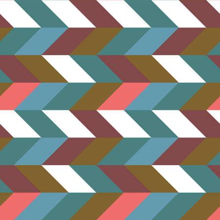 Abstract retro colorful parallelogram seamless pattern. The geometric figures form horizontal set stripes Archivio Fotografico - 150614317