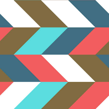Simple and modern seamless pattern of parallelogram roof tile in colourful scheme