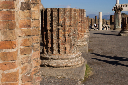 Pompeii is an ancient city buried in 79 AD. from the eruption of Vesuvius Banque d'images