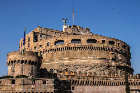 Castel SantAngelo in Rome sepulcher for the emperor Hadrian and his family