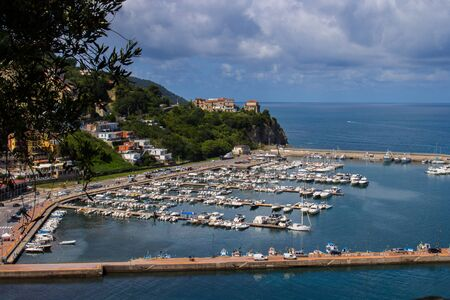 Agropoli, pearl of the Cilento, view of the harbor with its boats