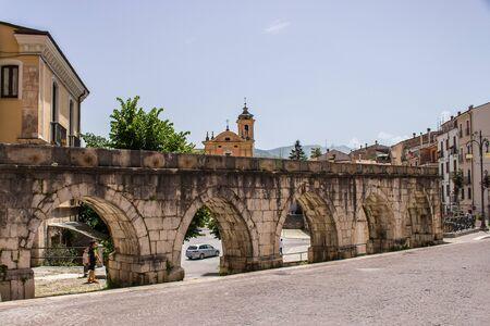The medieval Aqueduct of Sulmona, built near Piazza Garibaldi