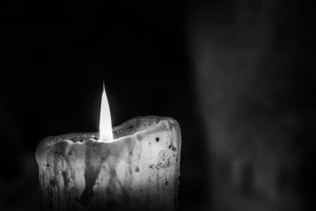 Candle light, used before the electric current spreads