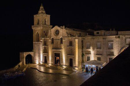 San Pietro Caveoso Church in Matera, European Capital of Culture 2019, the city of stones