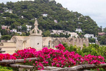 View of Giardini di Augusto in Capri, Italy