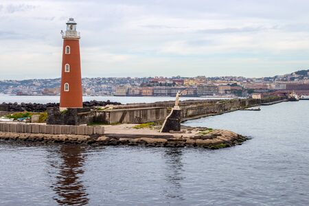 the lighthouse of the port of Naples